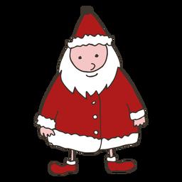 Santa Claus barba abrigo trineo bosquejo
