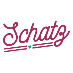 Autocolante de coração texto alemão Schatz