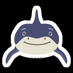 Shark fin tooth flat sticker