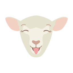 Sheep happy wool lamb flat sticker