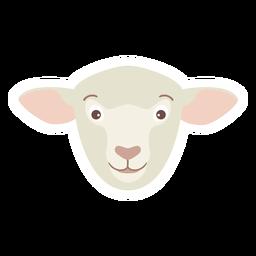 Adesivo de lã de ovelha cabeça de cordeiro