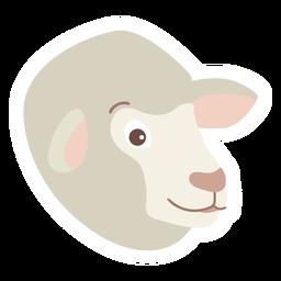 Adesivo de lã de ovelha cordeiro plana