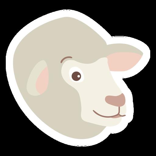 Sheep wool lamb flat sticker Transparent PNG