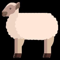 Oveja de lana de oveja con cordero plano redondeado geométrico