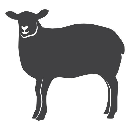 Sheep wool lamb hoof silhouette Transparent PNG