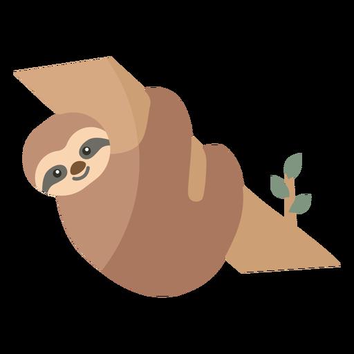 Sloth branch leaf tree flat