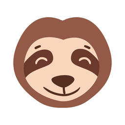 Sloth head muzzle flat sticker