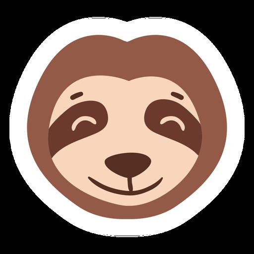 Sloth head muzzle flat sticker Transparent PNG