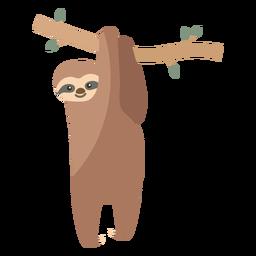 Árbol de rama de perezoso plano
