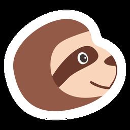 Sloth muzzle head flat sticker