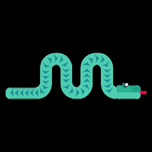 Reptil serpiente lengua bifurcada torciendo largo plano redondeado geométrico Transparent PNG
