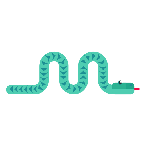 Snake reptile forked tongue twisting long flat rounded geometric Transparent PNG