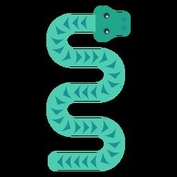Reptil serpiente torsión larga redondeada plana geométrica.