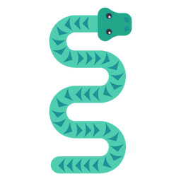 Schlange Reptil lang gedreht flach abgerundet geometrisch