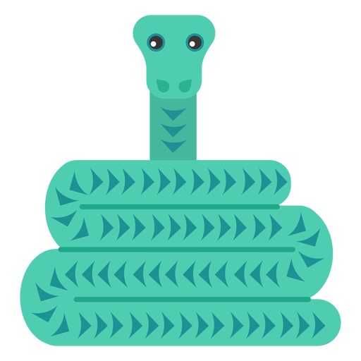 Reptil serpiente torcido largo plano redondeado geométrico Transparent PNG