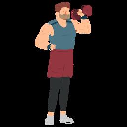 Sportsman barba músculo haltere calções plana