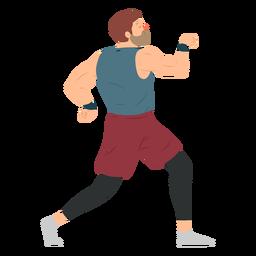 Pantalones cortos musculosos barba deportista planos