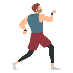 Sportler Bart Muskelshorts flach