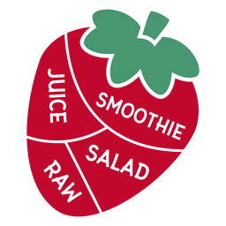 Jugo de fresa licuado ensalada cruda plana