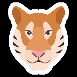 Etiqueta engomada plana cabeza raya hocico tigre