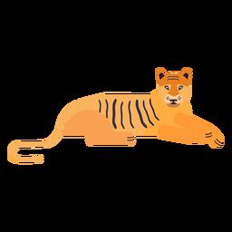 Raya de tigre plana