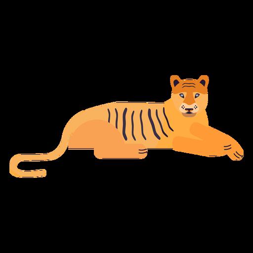 Raya de tigre plana Transparent PNG