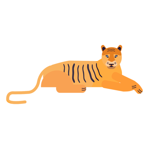 Tigerstreifen flach Transparent PNG