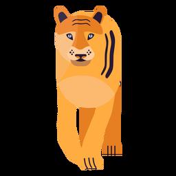 Tiger stripe fur flat