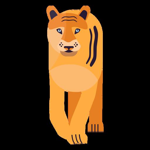 Tiger stripe fur flat Transparent PNG