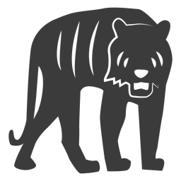 Tiger Streifen Fell Silhouette