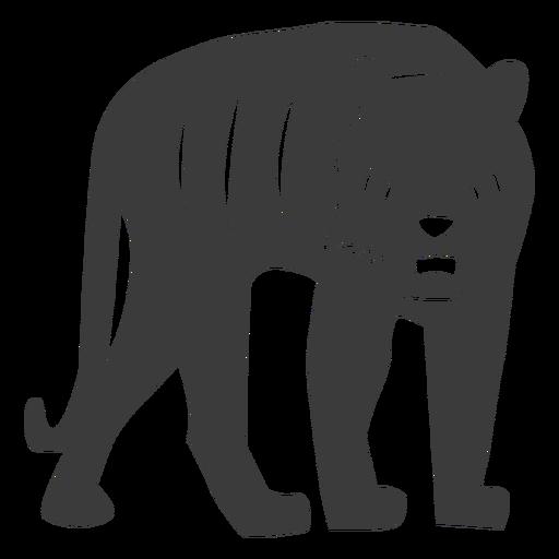 Tiger Streifen Fell Silhouette Transparent PNG