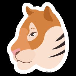 Tiger stripe head flat sticker
