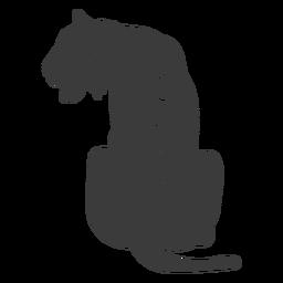 Tiger-Streifen-Silhouette