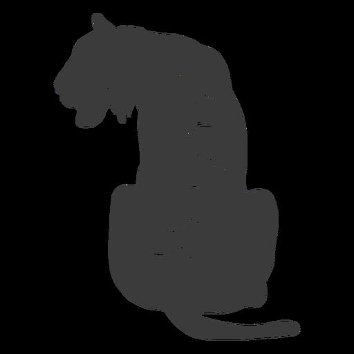 Silueta de rayas de tigre Transparent PNG