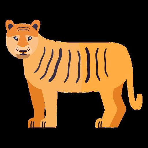 Raya cola de tigre plana Transparent PNG