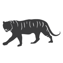 Tiger stripe tail silhouette