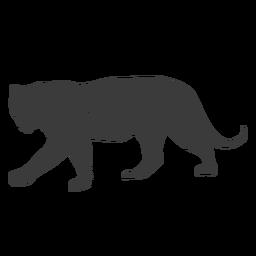 Tigre raya cola silueta