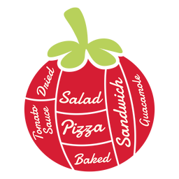 Tomate ensalada seca pizza sándwich al horno guacamole salsa de tomate plana