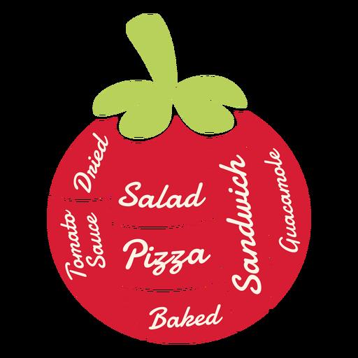 Ensalada seca de tomate pizza al horno sándwich guacamole salsa de tomate plana Transparent PNG