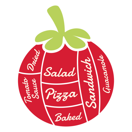 Tomato dried salad pizza baked sandwich guacamole tomato sauce flat Transparent PNG