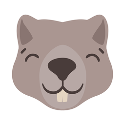 Tooth beaver head flat sticker