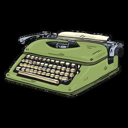 Ilustración de mecanografía de botón de máquina de escribir