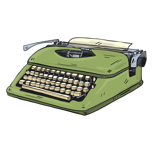 Typewriter button typing illustration Transparent PNG