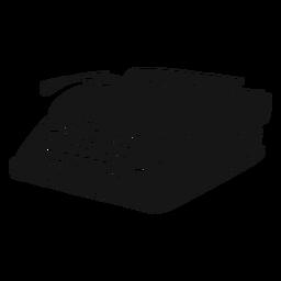 Máquina de escribir botón escribiendo silueta