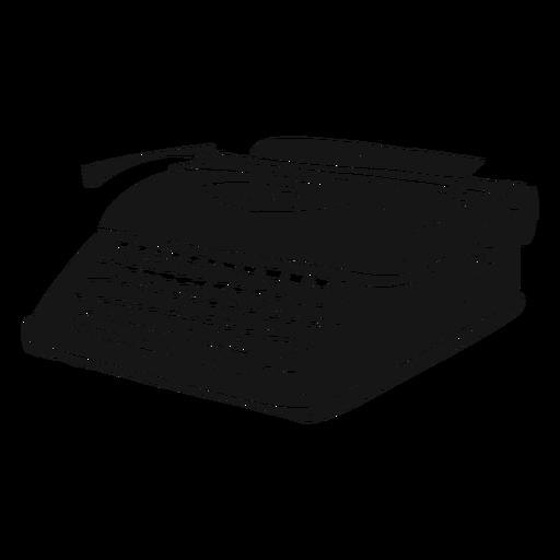 Silhueta de digitação de botão de máquina de escrever Transparent PNG