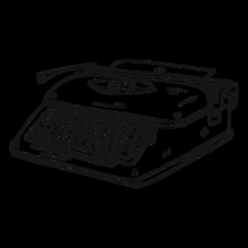 Typewriter button typing stroke Transparent PNG