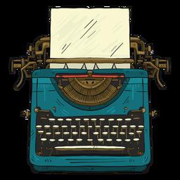Botão de papel de máquina de escrever, digitando a ilustração