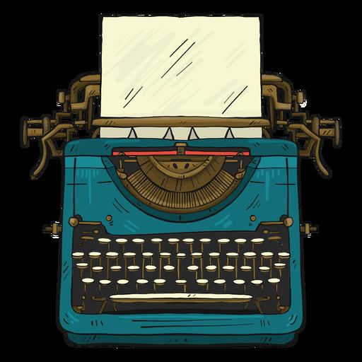 Máquina de escribir botón de papel escribiendo ilustración Transparent PNG
