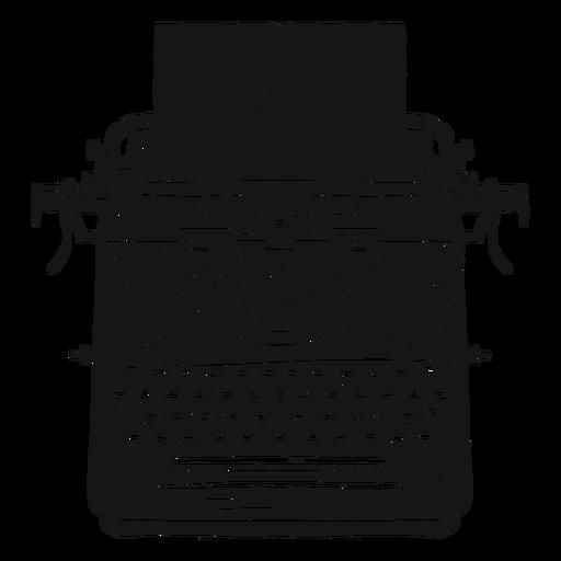 Máquina de escribir botón de papel escribiendo silueta Transparent PNG