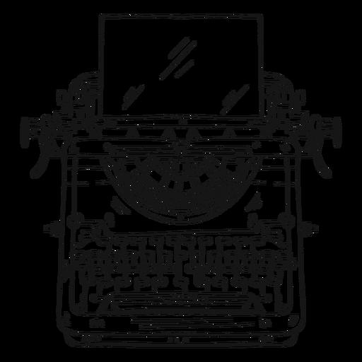 Botón de máquina de escribir que escribe movimiento Transparent PNG